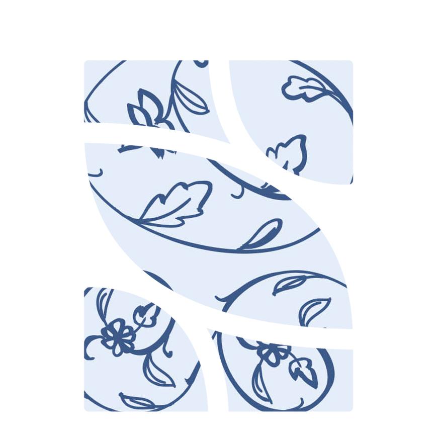copertina con logo a fiori